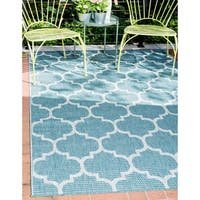 Unique Loom Outdoor Trellis Area Rug - 8' x 11' 4