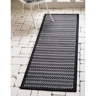 Unique Loom Outdoor Checkered Area Rug