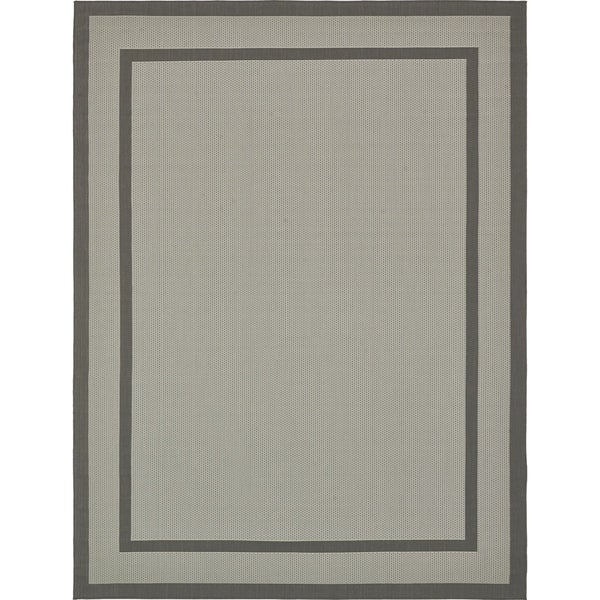 Unique Loom Border Outdoor Area Rug - 9' x 12'