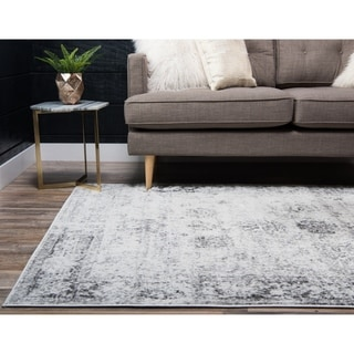 Sofia Floral Grey Area Rug (9' x 12')