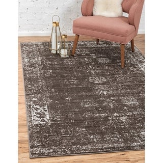 Sofia Transitional Brown/Ivory Floral Area Rug (9' x 12')