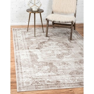 Sofia Floral Beige Area Rug (9' x 12')