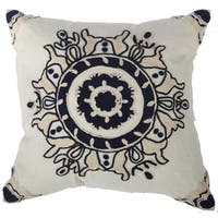 Embroidered Throw Pillow 18-inch