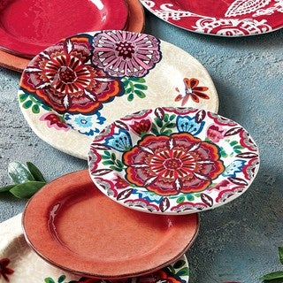 TAG Talavera Melamine Salad Plate Set of 4