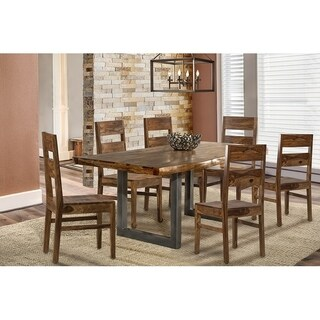 Hillsdale Furniture Emerson Natural Sheesham 7-piece Rectangle Dining Set with Wood Chairs