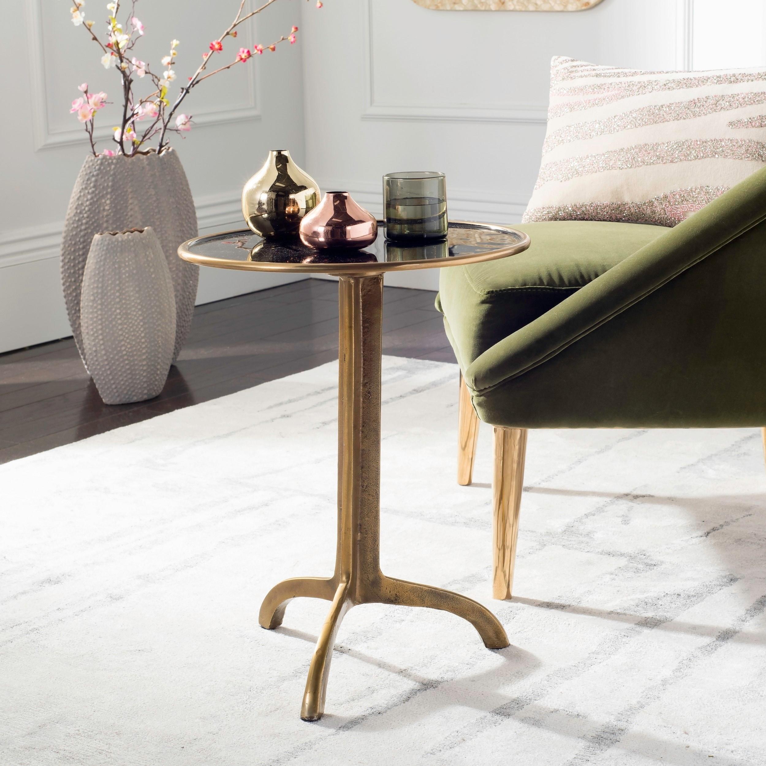 - Shop Safavieh Brent Antique Brass Accent Table - 16