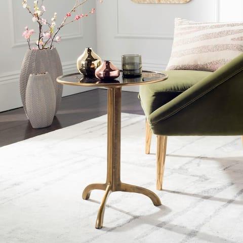 "Safavieh Brent Antique Brass Accent Table - 16"" x 16"" x 20"""