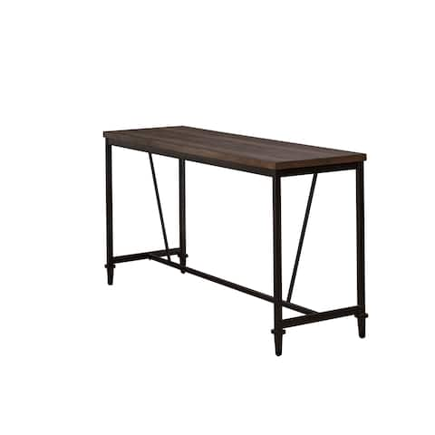 Hillsdale Furniture Trevino Counter Height Table/Bar in Distressed Walnut - N/A