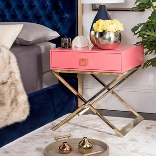 Safavieh Zarina Modern Cross Leg Pink End Table