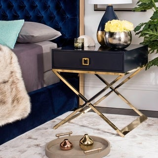 Safavieh Zarina Modern Cross Leg Navy End Table