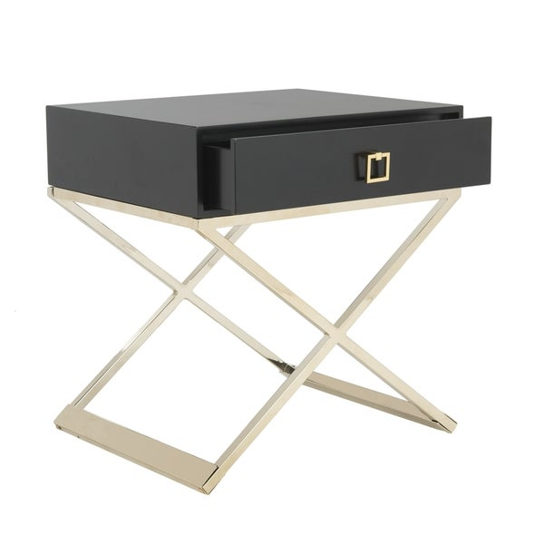 Safavieh Zarina Modern Cross Leg Black End Table/ Night Stand