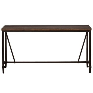 Hillsdale Furniture Trevino Sofa Table in Distressed Walnut