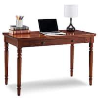 Farmhouse Oak Turned leg Laptop Desk with Center Drawer