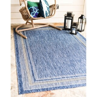 Unique Loom Soft Border Outdoor Area Rug - 8' x 11' 4