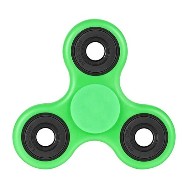 Fidget Green & Black Ceramic Spinner Helps To Reduce Stress Anxiety Helps Focus