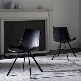 Safavieh Terra Mid-Century Modern Black/ Black Dining Chair (Set of 2)