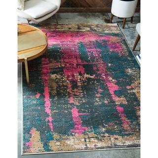 Shop Nuloom Traditional Vintage Inspired Overdyed Blue Rug