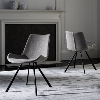 Safavieh Terra Mid-Century Modern Light Grey/ Black Dining Chair (Set of 2)