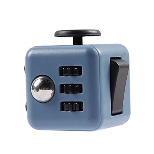 Fidget Cube Relieves Stress And Anxiety Teal & Black