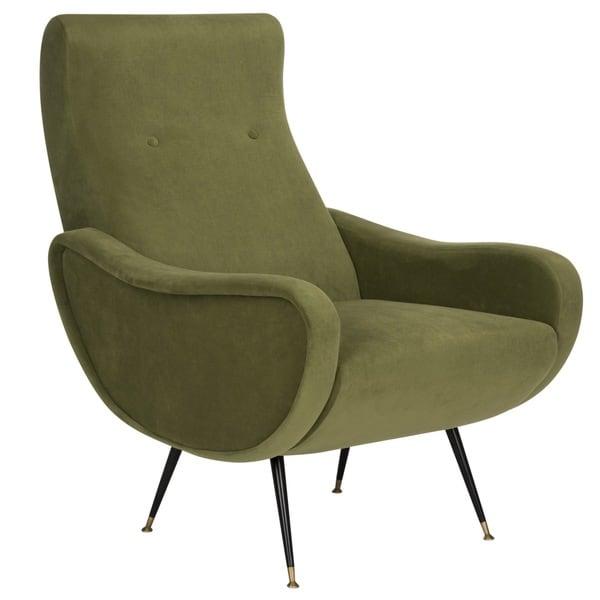 Shop Safavieh Mid Century Modern Retro Elicia Velvet Hunter Green