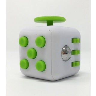 Fidget Cube Relieves Stress And Anxiety White & Green