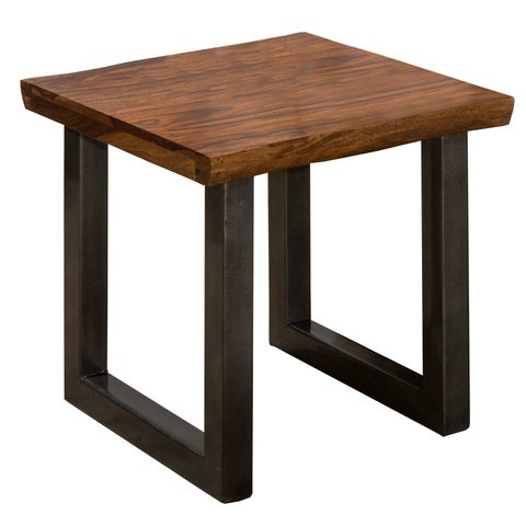 Hillsdale Furniture Emerson End Table in Natural Sheesham