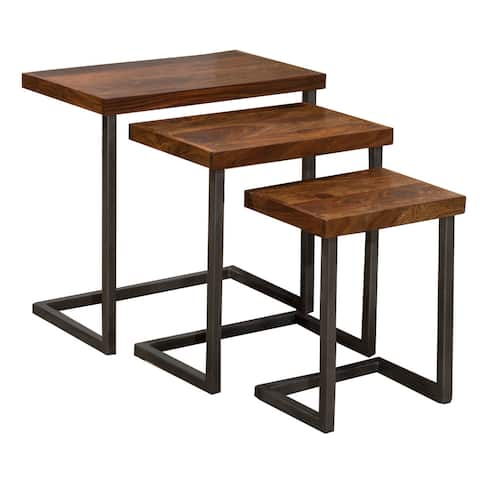 """Carbon Loft Schuyler Nesting Tables (Set of 3) - 24""""W x 15""""L x 24""""H"""