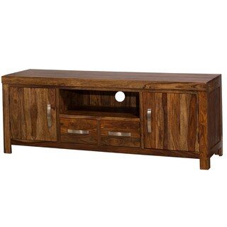 Hillsdale Furniture Emerson Natural Sheesham Wood Entertainment Center