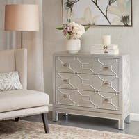 Madison Park Garland Metallic 3 Drawer Chest