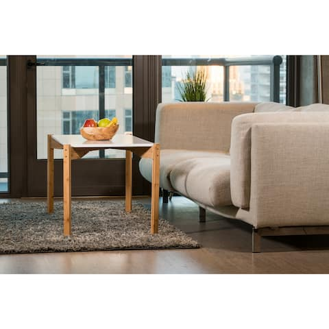 Zora Modern Multi-Purpose Extra Long Brown Bamboo Coffee Table, 42 Inch Tall