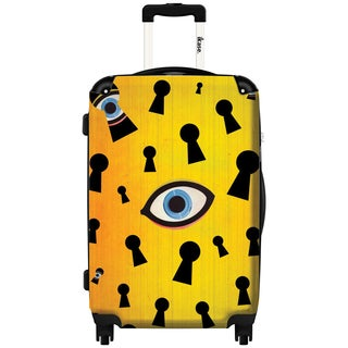 iKase They Are Watching by Elo Marc 24-inch Hardside Spinner Upright Suitcase