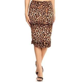 Women's Leopard Pattern Pencil Skirt