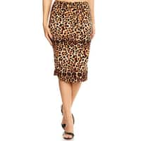 Women's Leopard Pattern Pencil Skirt