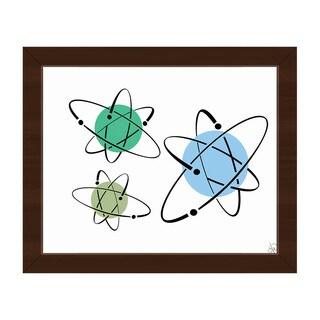 Cooler Atoms Astrobursts Framed Canvas Wall Art