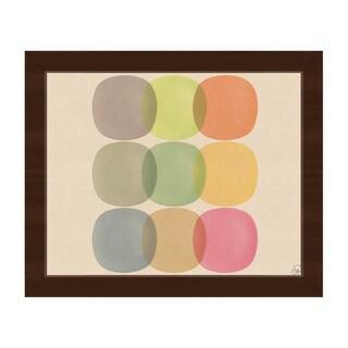 Warm Palette Orbs Framed Canvas Wall Art Print