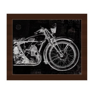 Vintage Motorcycle Framed Canvas Wall Art Print