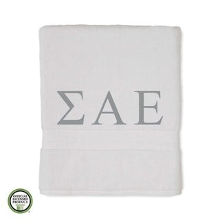 Martex Abundance Sigma Alpha Epsilon Monogram Bath Towel