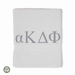 Martex Abundance Alpha Kappa Delta Pi Monogram Bath Towel