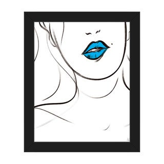 Cyan Bite Framed Canvas Wall Art Print