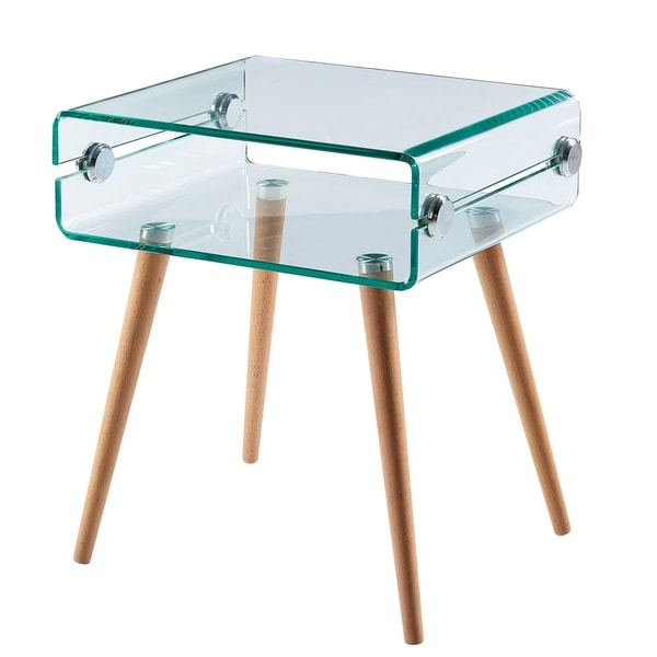 Versanora - Cassetto Glass End Table