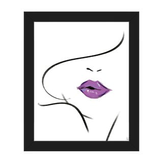 Mauve Lipstick Framed Canvas Wall Art Print