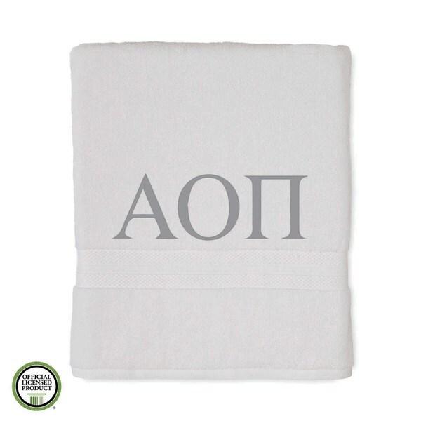Martex Abundance Alpha Omicron Pi Monogram Bath Towel