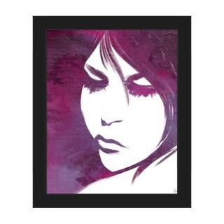 Violet Lit Face Framed Canvas Wall Art Print