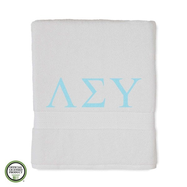 Martex Abundance Lambda Sigma Upsilon Monogram Bath Towel