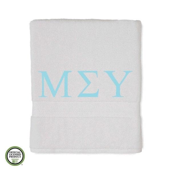 Martex Abundance Mu Sigma Upsilon Monogram Bath Towel
