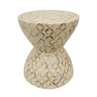Decor Therapy White Mosaic Accent Table