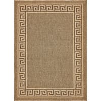 Unique Loom Greek Key Outdoor Area Rug - 8' X 11' 4