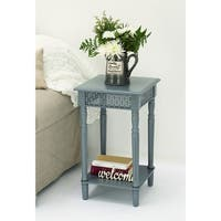 Urban Designs California Collection Wood Grey Square Side Table