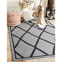Unique Loom Diamonds Outdoor Area Rug - 9' X 12'