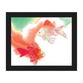 Lava Lamp Goldfish Framed Canvas Wall Art Print
